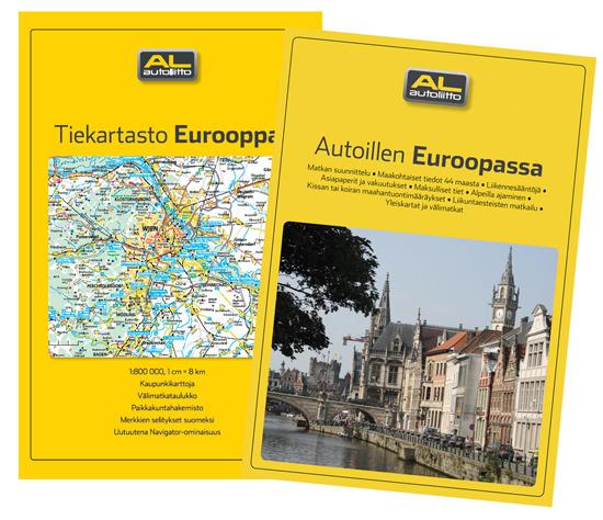 Autoillen Euroopassa Opas Ja Euroopan Tiekartasto Autoliitto