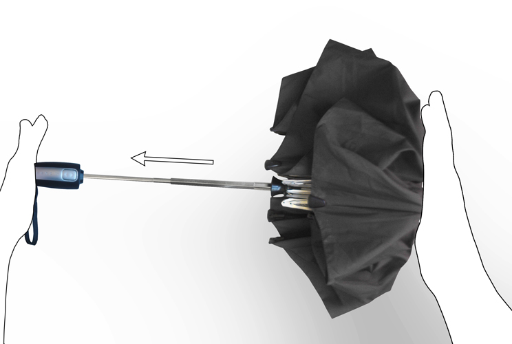 Heart shaped umbrella - show your beloved your heart - high quality with white fiberglass frame